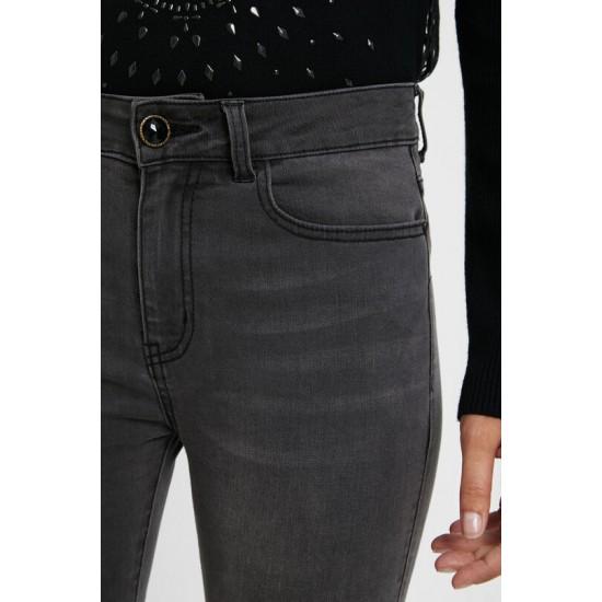 Desigual Soldes Pantalon en jean skinny ornements