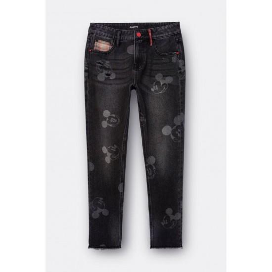 Desigual Soldes Pantalon en jean boyfriend Mickey Mouse