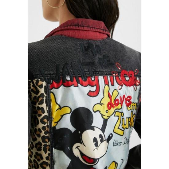 Desigual Soldes Veste en jean loose Mickey Mouse