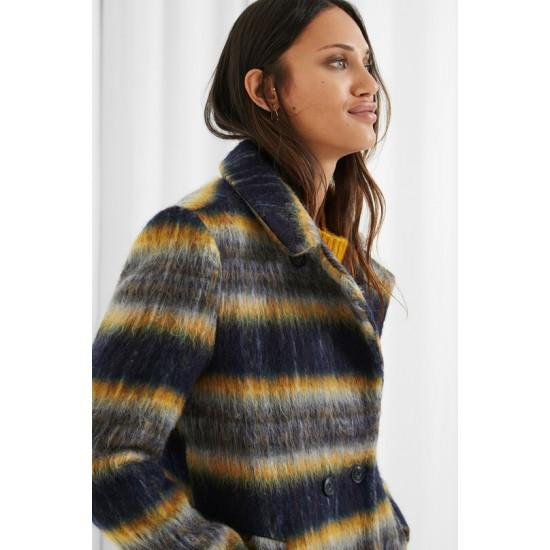 Desigual Soldes Manteau laine droit