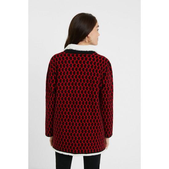 Desigual Soldes Veste tricot sherpa