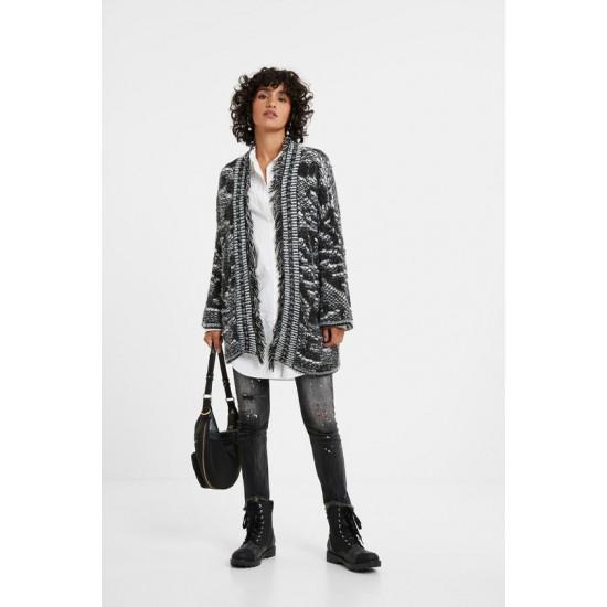 Desigual Soldes Veste oversize tricot