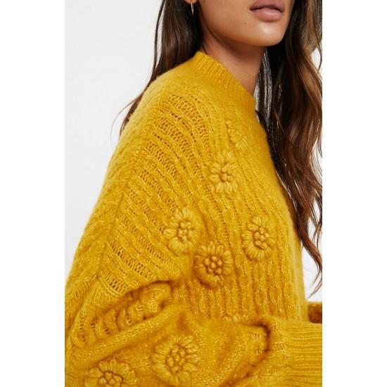 Desigual Soldes Pull tricot tressé