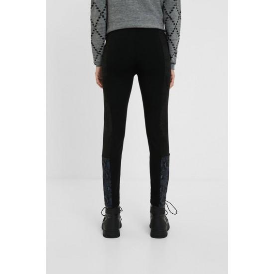 Desigual Soldes Pantalon slim animal print