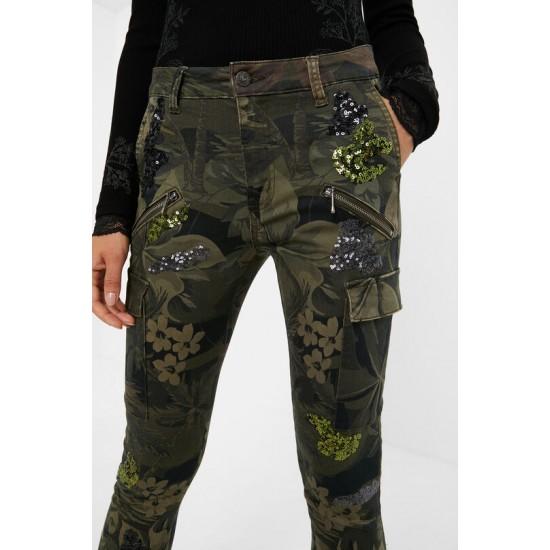 Desigual Soldes Pantalon skinny cargo