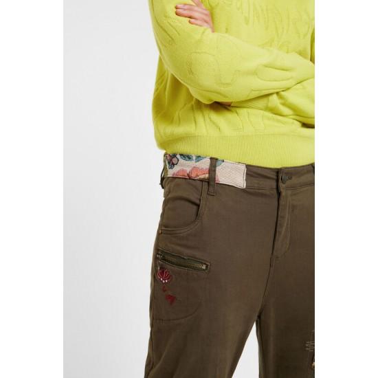 Desigual Soldes Pantalon boyfriend fleurs