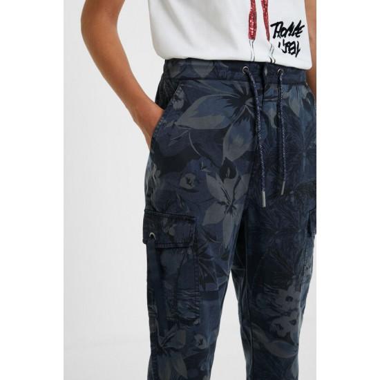Desigual Soldes Pantalon cargo camoflower