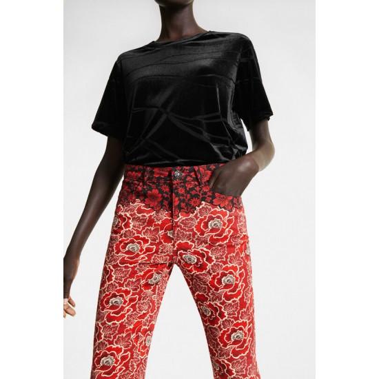 Desigual Soldes Pantalon skinny fleuri