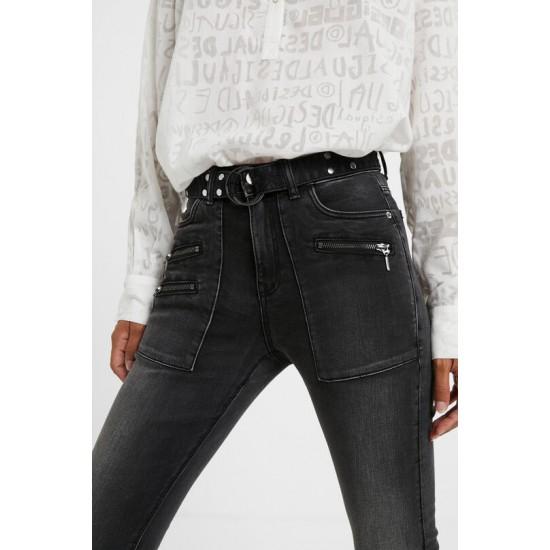 Desigual Soldes Pantalon jean slim