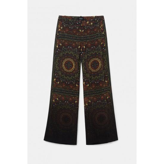 Desigual Soldes Pantalon évasé hindou