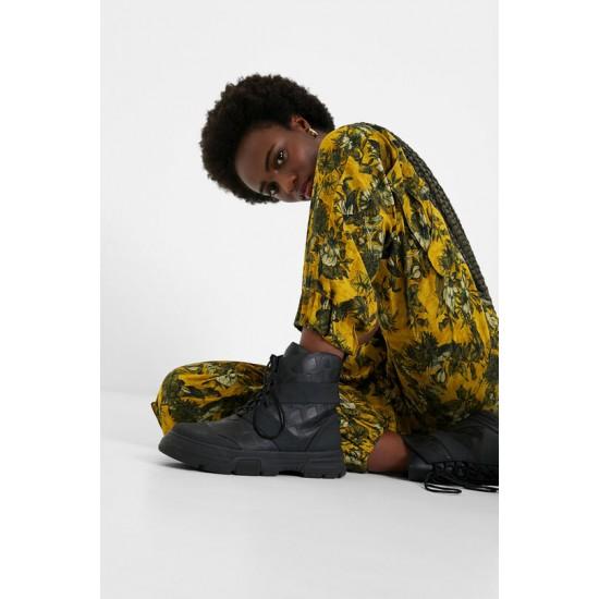 Desigual Soldes Pantalon cargo fleuri