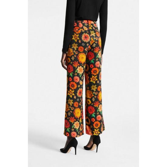 Desigual Soldes Pantalon évasé fleuri
