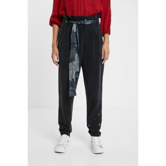 Desigual Soldes Pantalon pinces foulard