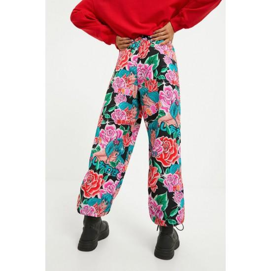 Desigual Soldes Pantalon jogger fleuri