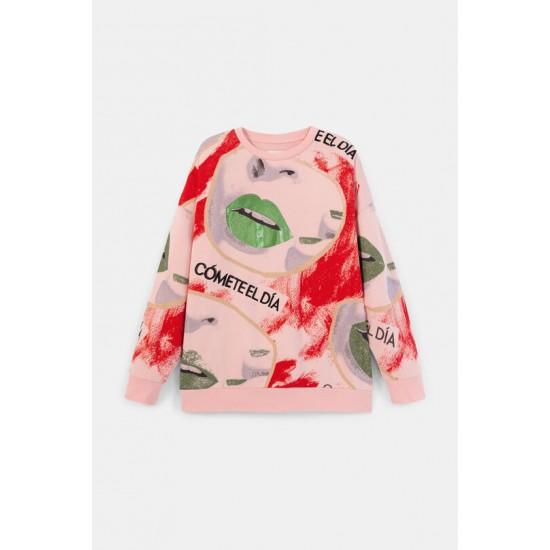Desigual Soldes Sweat-shirt oversize 100% coton
