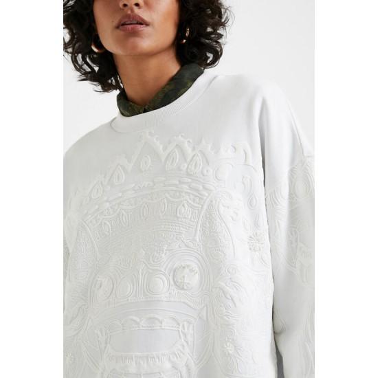 Desigual Soldes Sweat-shirt oversize balinais