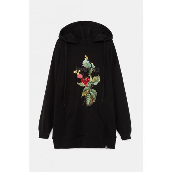Desigual Soldes Sweat-shirt oversize fleurs