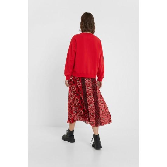 Desigual Soldes Sweat-shirt oversize mandala