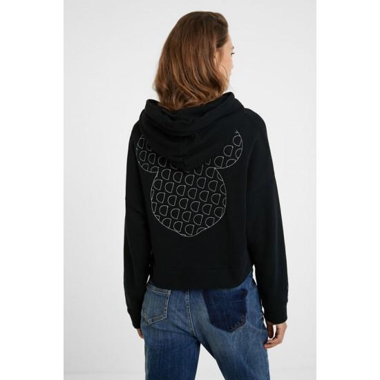 Desigual Soldes Sweat-shirt monogram Mickey Mouse