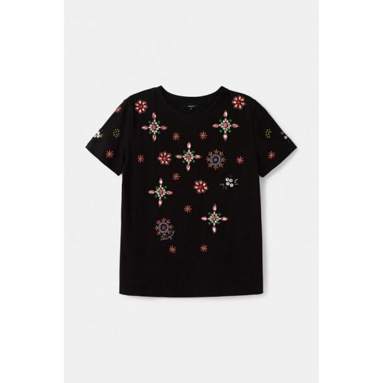 Desigual Soldes T-shirt bijoux 100% coton