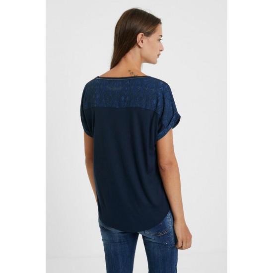 Desigual Soldes T-shirt maille mandala