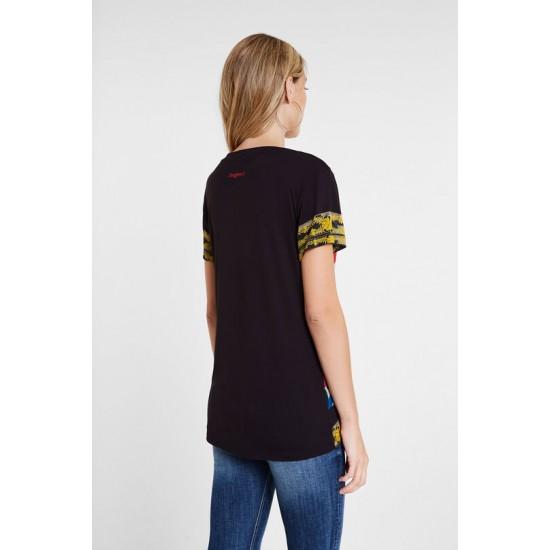Desigual Soldes T-shirt slim fleuri