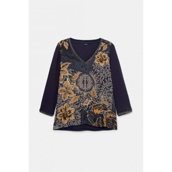 Desigual Soldes T-shirt fleuri boho