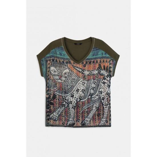 Desigual Soldes T-shirt ample oriental