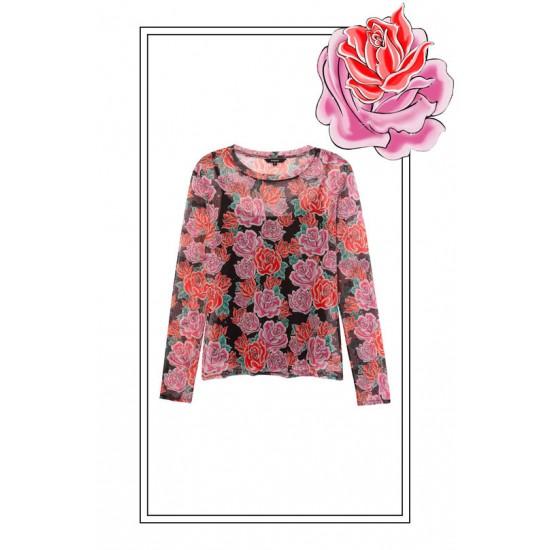 Desigual Soldes T-shirt slim fleurs
