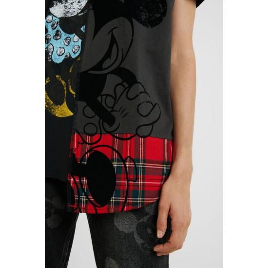 Desigual Soldes T-shirt tartan Minnie Mouse