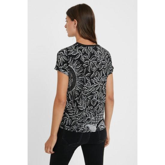Desigual Soldes T-shirt slim mandala