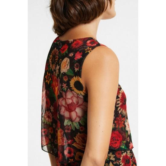 Desigual Soldes Robe volants fleurie