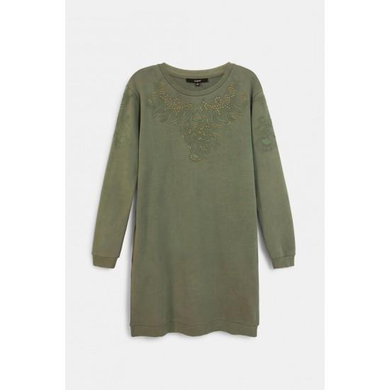 Desigual Soldes Robe sweatshirt broderies