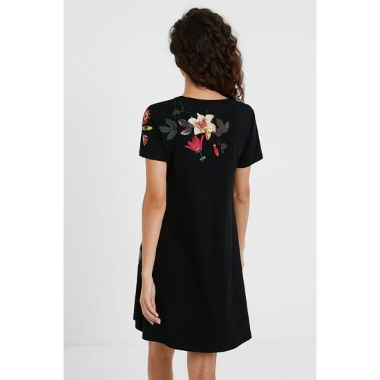 Desigual Soldes Robe t-shirt fleurie