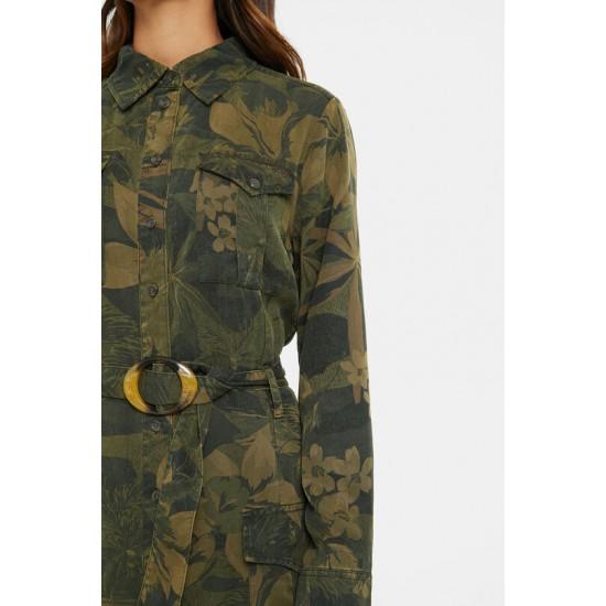 Desigual Soldes Robe chemise longue évasée