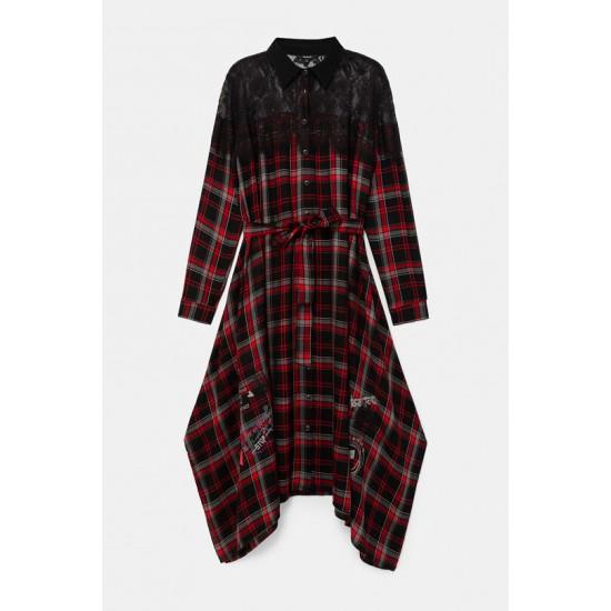 Desigual Soldes Robe chemise tartan