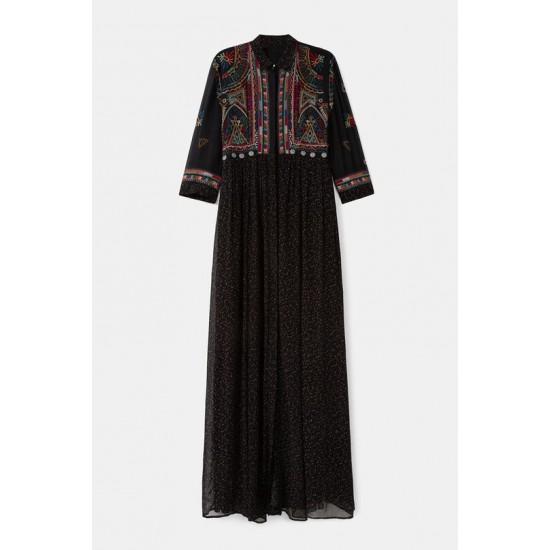 Desigual Soldes Robe longue georgette