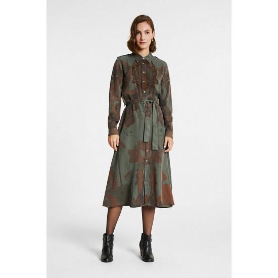 Desigual Soldes Robe longue tencel