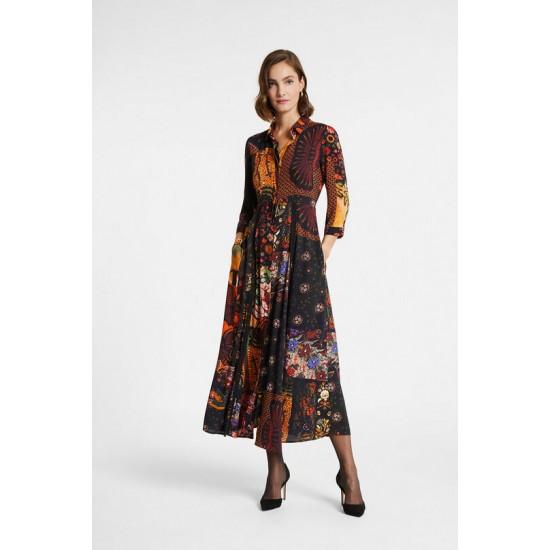 Desigual Soldes Robe chemise longue